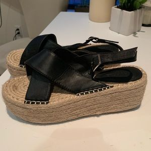 Leather strap wedges
